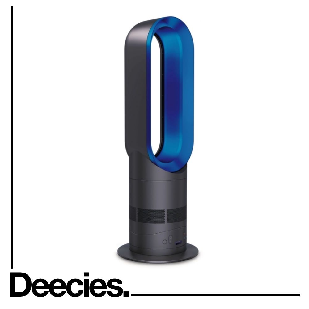new dyson am05 iron blue 2 year warranty hot cold heater and fan rrp 369 ebay. Black Bedroom Furniture Sets. Home Design Ideas